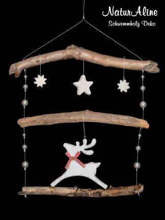 Weihnachtsdeko Schwemmholz Girlande Rentier 163