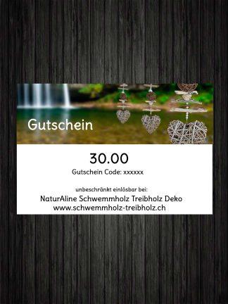 Schwemmholz Treibholz Deko Gutschein 30