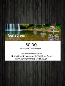 Schwemmholz Treibholz Deko Gutschein 50