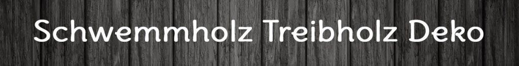 Schwemmholz Treibholz Deko Logo