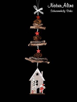 Weihnachtsdeko Schwemmholz Girlande Häuschen 585-1