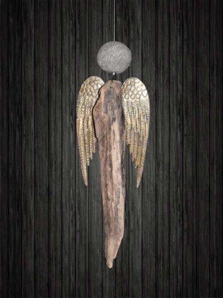 Schwemmholz Engel hängend